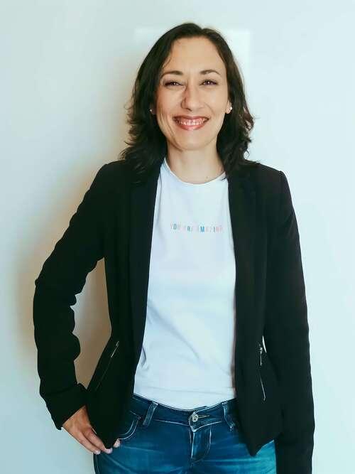 Catia Rodrigues a sorrir